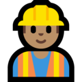 Construction Worker: Medium Skin Tone on Microsoft Windows 10 April 2018 Update