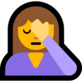 Person Facepalming on Microsoft Windows 10 April 2018 Update
