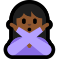 Person Gesturing No: Medium-Dark Skin Tone on Microsoft Windows 10 April 2018 Update