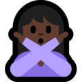 Person Gesturing No: Dark Skin Tone on Microsoft Windows 10 April 2018 Update
