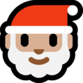 Santa Claus: Medium-Light Skin Tone on Microsoft Windows 10 April 2018 Update