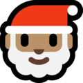 Santa Claus: Medium Skin Tone on Microsoft Windows 10 April 2018 Update