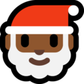 Santa Claus: Medium-Dark Skin Tone on Microsoft Windows 10 April 2018 Update