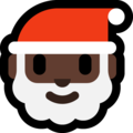 Santa Claus: Dark Skin Tone on Microsoft Windows 10 April 2018 Update