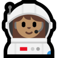 Woman Astronaut: Medium Skin Tone on Microsoft Windows 10 April 2018 Update