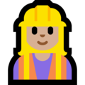 Woman Construction Worker: Medium-Light Skin Tone on Microsoft Windows 10 April 2018 Update