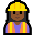 Woman Construction Worker: Medium-Dark Skin Tone on Microsoft Windows 10 April 2018 Update