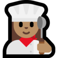 Woman Cook: Medium Skin Tone on Microsoft Windows 10 April 2018 Update