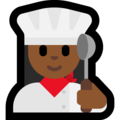 Woman Cook: Medium-Dark Skin Tone on Microsoft Windows 10 April 2018 Update