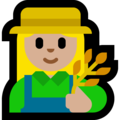Woman Farmer: Medium-Light Skin Tone on Microsoft Windows 10 April 2018 Update