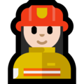 Woman Firefighter: Light Skin Tone on Microsoft Windows 10 April 2018 Update