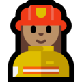 Woman Firefighter: Medium Skin Tone on Microsoft Windows 10 April 2018 Update