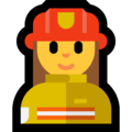 Woman Firefighter on Microsoft Windows 10 April 2018 Update