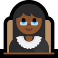 Woman Judge: Medium-Dark Skin Tone on Microsoft Windows 10 April 2018 Update