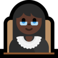 Woman Judge: Dark Skin Tone on Microsoft Windows 10 April 2018 Update