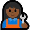 Woman Mechanic: Medium-Dark Skin Tone on Microsoft Windows 10 April 2018 Update