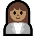 Woman Office Worker: Medium Skin Tone on Microsoft Windows 10 April 2018 Update