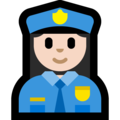 Woman Police Officer: Light Skin Tone on Microsoft Windows 10 April 2018 Update