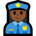 Woman Police Officer: Medium-Dark Skin Tone on Microsoft Windows 10 April 2018 Update