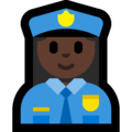 Woman Police Officer: Dark Skin Tone on Microsoft Windows 10 April 2018 Update