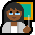 Woman Teacher: Medium-Dark Skin Tone on Microsoft Windows 10 April 2018 Update