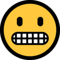 Grimacing Face on Microsoft Windows 10 April 2018 Update