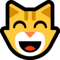 Grinning Cat Face With Smiling Eyes on Microsoft Windows 10 April 2018 Update