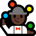 Person Juggling: Dark Skin Tone on Microsoft Windows 10 April 2018 Update
