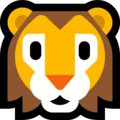 Lion Face on Microsoft Windows 10 April 2018 Update