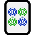 Mahjong Tile Four of Circles on Microsoft Windows 10 April 2018 Update