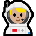 Man Astronaut: Medium-Light Skin Tone on Microsoft Windows 10 April 2018 Update