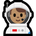 Man Astronaut: Medium Skin Tone on Microsoft Windows 10 April 2018 Update