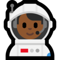 Man Astronaut: Medium-Dark Skin Tone on Microsoft Windows 10 April 2018 Update