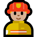 Man Firefighter: Medium-Light Skin Tone on Microsoft Windows 10 April 2018 Update