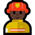 Man Firefighter: Dark Skin Tone on Microsoft Windows 10 April 2018 Update