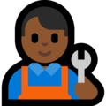 Man Mechanic: Medium-Dark Skin Tone on Microsoft Windows 10 April 2018 Update