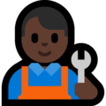 Man Mechanic: Dark Skin Tone on Microsoft Windows 10 April 2018 Update