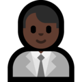 Man Office Worker: Dark Skin Tone on Microsoft Windows 10 April 2018 Update