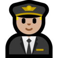 Man Pilot: Medium-Light Skin Tone on Microsoft Windows 10 April 2018 Update