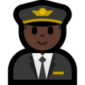 Man Pilot: Dark Skin Tone on Microsoft Windows 10 April 2018 Update