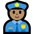 Man Police Officer: Medium Skin Tone on Microsoft Windows 10 April 2018 Update