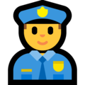 Man Police Officer on Microsoft Windows 10 April 2018 Update