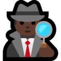 Man Detective: Dark Skin Tone on Microsoft Windows 10 April 2018 Update