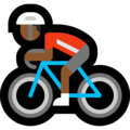 Man Biking: Medium-Dark Skin Tone on Microsoft Windows 10 April 2018 Update