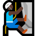 Man Climbing: Dark Skin Tone on Microsoft Windows 10 April 2018 Update