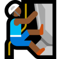 Man Climbing: Medium-Dark Skin Tone on Microsoft Windows 10 April 2018 Update