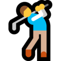 Man Golfing on Microsoft Windows 10 April 2018 Update