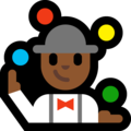 Man Juggling: Medium-Dark Skin Tone on Microsoft Windows 10 April 2018 Update