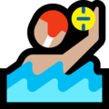 Man Playing Water Polo: Medium-Light Skin Tone on Microsoft Windows 10 April 2018 Update
