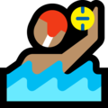 Man Playing Water Polo: Medium Skin Tone on Microsoft Windows 10 April 2018 Update